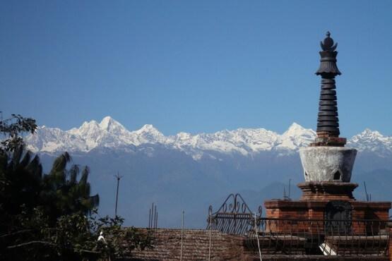 Vistas del Everest en Nagargko, Nepal