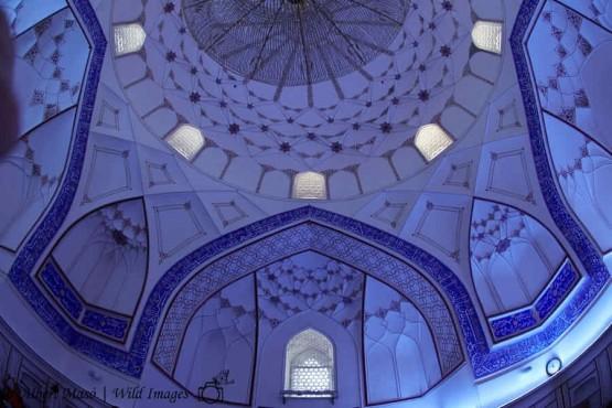 Interior de mezquita -viaje fotográfico Ruta de la Seda