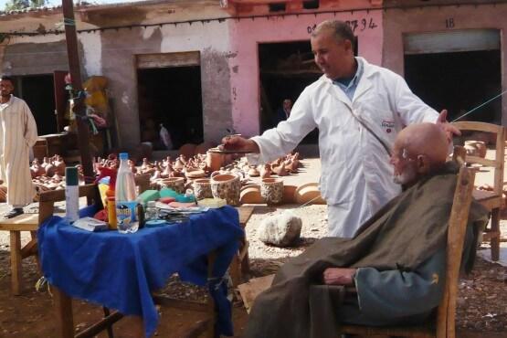 Barbero en Imlil