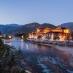 Vista nocturna del Dzong de Punakha